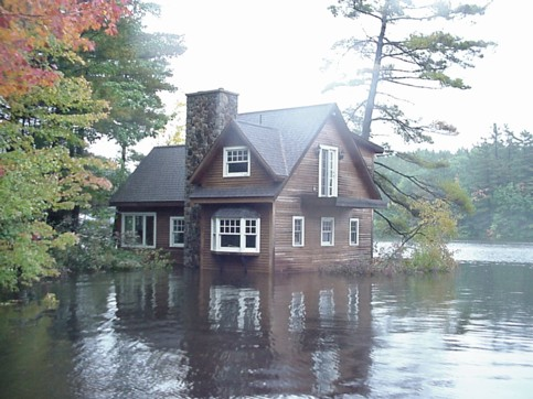 My flooded house in the morning of October 15, 2005.