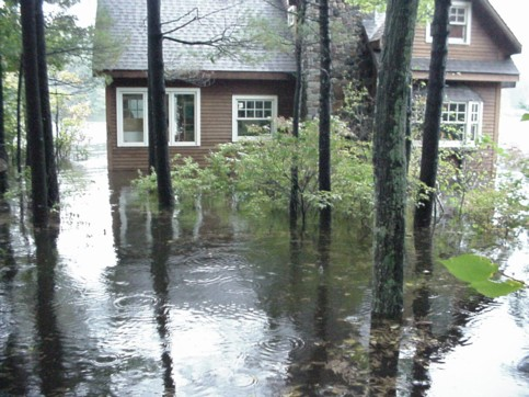 Another picture of my house taken in the morning of October 15, 2005.