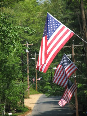 Flags-along-Sturbridge-Road
