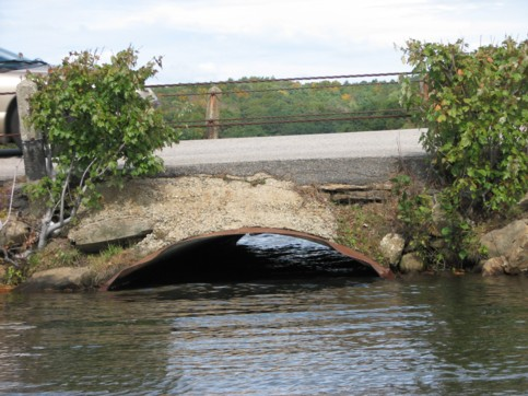 Culvert underneath the causeway that is too small.